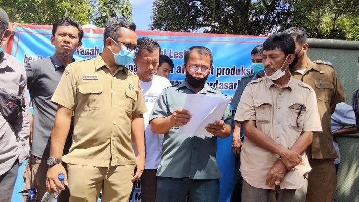 Pembacaan putusan penyitaan aset pabrik di Asahan (Perdana-detikcom)