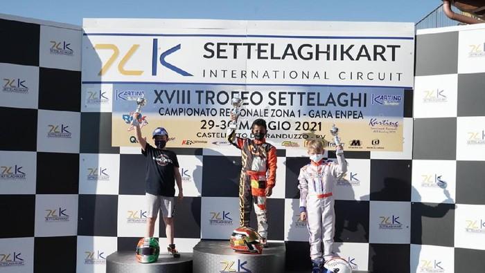 Pegokar Indonesia Qarrar Firhand Ali juara di ROK Cup Italia 2021 di Laghi Internasional Sirkuit, Castelletto di Branduzzo, Pravia, Italia, Sabtu-Minggu 29-30 Me
