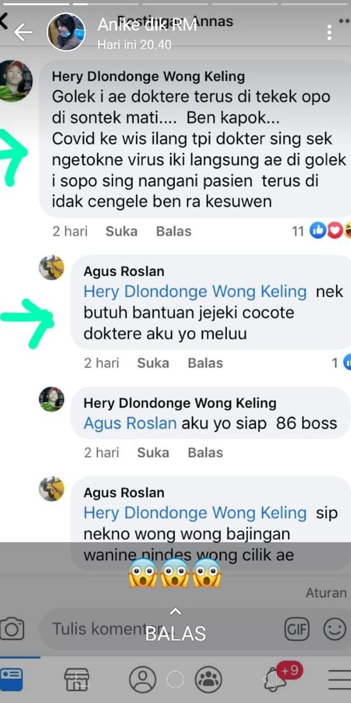 akun facebook ancam dokter