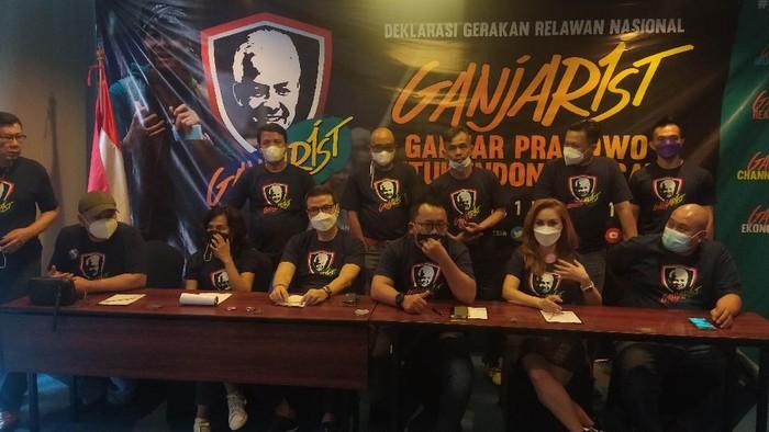 Ganjarist deklarasi Ganjar Pranowo untuk maju dalam Pilpres 2024 (Adhyasta Dirgantara/detikcom)