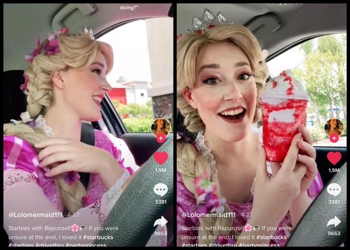 'Princess' Cantik Ini Hobi Eksperimen Pesan Minuman Starbucks