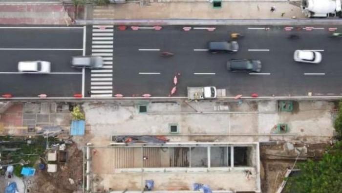 Progres pembangunan terowongan silaturahmi Masjid Istiqlal dan Gereja Katedral
