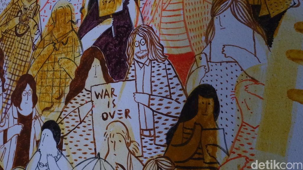 Seniman Bandung Buat Lukisan Pakai Bubuk Kunyit Hingga Urang-aring