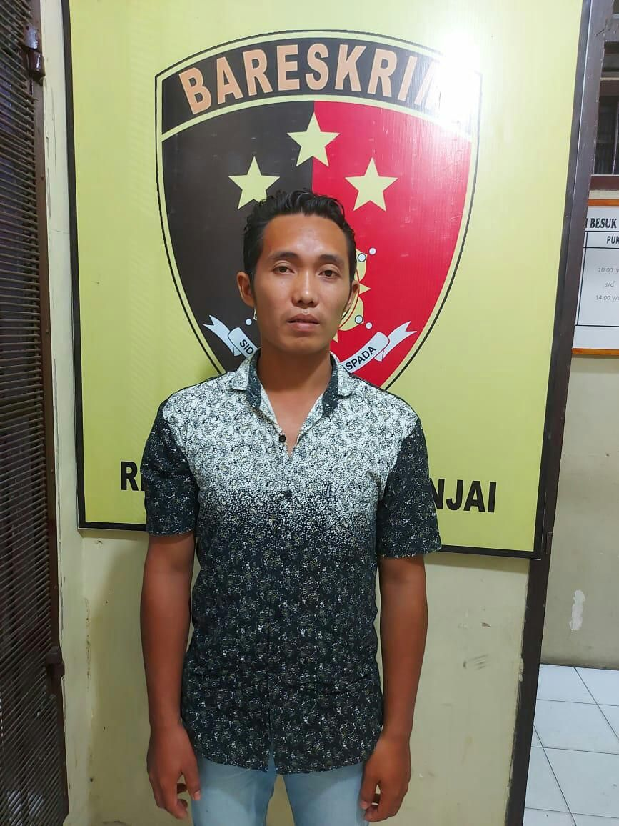 Tampang Mika Sanjaya alias Jaya (29) diduga sebagai kolor ijo Sumatera Utara (Dok. Istimewa)