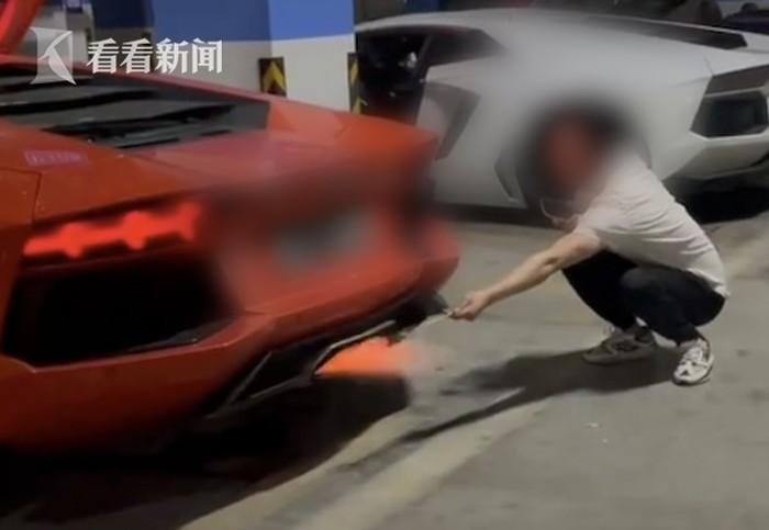 Waduh! Pria Ini Bakar Sate Pakai Knalpot Lamborghini Demi Konten
