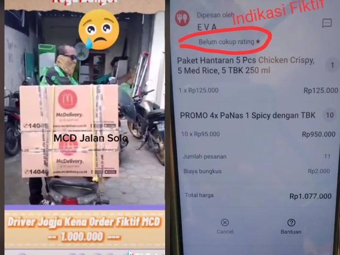 Duh! Driver Ojek Kena Orderan Fiktif Paket McDonalds hingga Rp 1 Juta