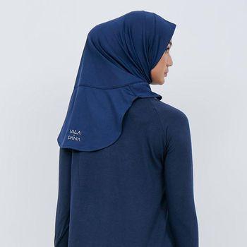 hijab olahraga kolaborasi DAMA x VALA. cocok untuk hijabers.