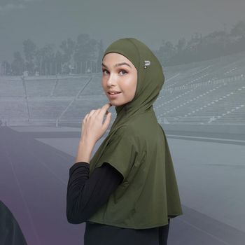 Hijab olahraga dari alnita official.