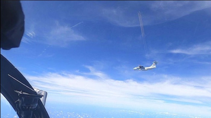 This handout photo from the Royal Malaysian Air Force taken on May 31, 2021 and released on June 1, 2021 shows a Chinese Peoples Liberation Army Air Force (PLAAF) Ilyushin Il-76 aircraft that Malaysian authorities said was in the airspace over Malaysias maritime zone near the coast of Sarawak state on Borneo island. (Royal Malaysian Air Force via AP)