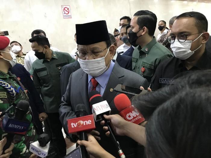 Prabowo Subianto di DPR RI (Rolando-detikcom)