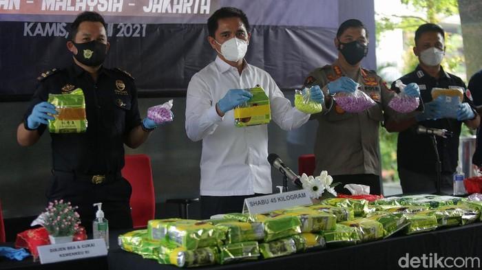Subdit IV Tipid Narkoba Bareskrim Polri bersama dengan Bea Cukai mengagalkan peredaran narkotika jaringan Jermna-Belgia.