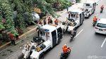 Dishub Razia Lokasi Parkir Liar di Trotoar Rawasari