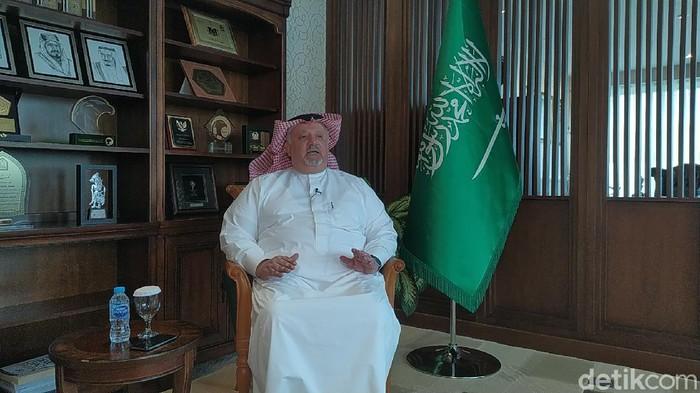 Duta Besar (Dubes) Arab Saudi untuk Indonesia, Esam Abid Althaghafi (Adhyasta Dirgantara/detikcom)