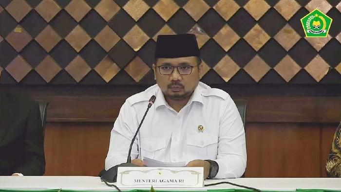 Menag Yaqut jumpa pers pembatalan Haji 2021