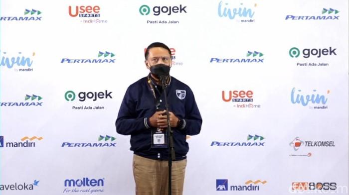 Menpora Zainudin Amali di final IBL 2021.