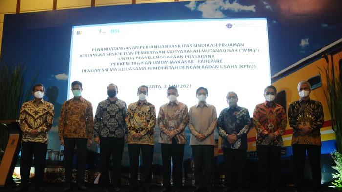 Pembiayaan ini akan digunakan PT Celebes Railway Indonesia untuk pembangunan jalur Kereta Api Makassar–Parepare beserta infrastruktur pendukungnya.