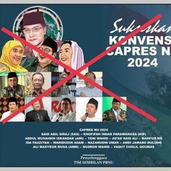 Poster konvensi capres NU 2024 yang dipastikan hoax.