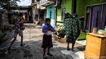Sepi Suram Kampung di Semper Barat yang Lagi Lockdown