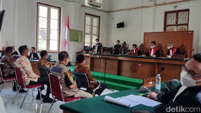 Sidang suap Nurdin Abdullah di PN Makassar (Hermawan/detikcom).