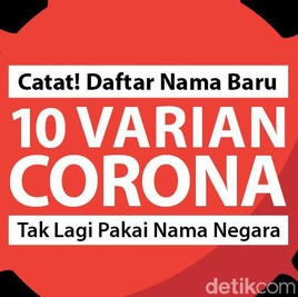 Tak Boleh Lagi Pakai Nama Negara! Ini Daftar Nama Baru Varian Corona