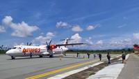 Wings Air Akhirnya Terbang Juga dari Kupang ke Lewoleba