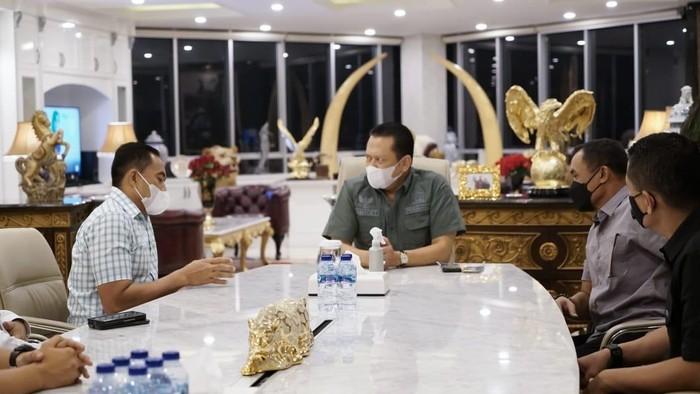 Ketua MPR RI Bambang Soesatyo bertemu dengan petinggi TNI.