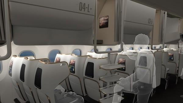 Kapsul ini menawarkan privasi tak terduga di kabin ekonomi yang padat. Traveler juga dapat mengatur suhu kabinnya sendiri, mau panas atau lebih dingin.