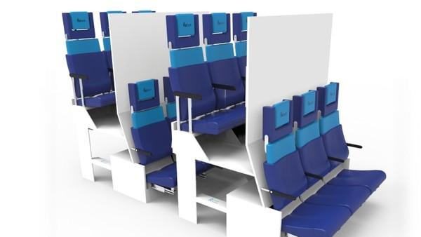 Salah satu konsep yang paling menarik dalam daftar pilihan juri adalah Proyek Kursi Ekonomi Chaise Longue. Mereka membuat kabin kursi dua tingkat.