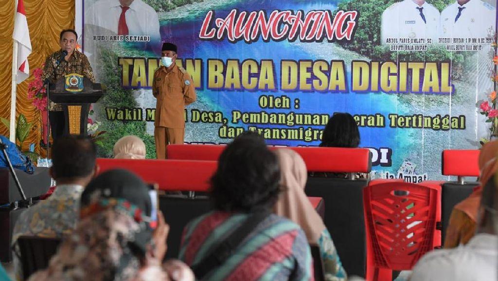 Kemendes Gaet Balai Pustaka Gerakkan 1.000 Taman Baca Desa Digital