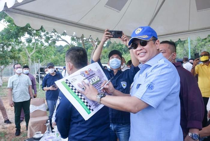 Ketua MPR Bambang Soesatyo tinjau sirkuit internasional di Batam.