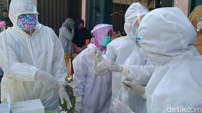 Muncul kasus Corona klaster pasar di Pemalang. 34 warga positif virus Corona atau COVID-19, Jumat (4/6/2021).