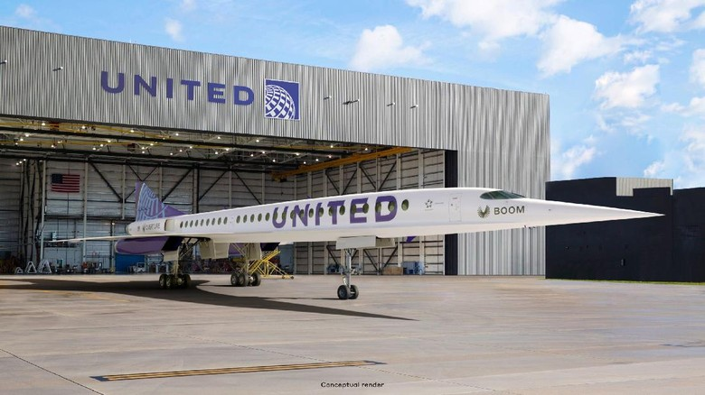 Pesawat supersonik United Airlines