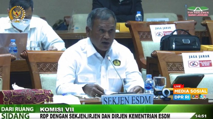 Sekretaris Jenderal ESDM Ego Syahrial anggarkan pagu Rp 5,04 T di 2022