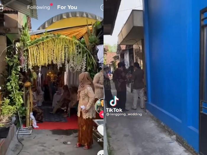 Viral dekorasi pernikahan di gang sempit bikin takjub.