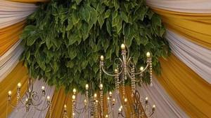 Saat Gang Sempit Disulap Jadi Lokasi Pernikahan dengan Dekor Mewah di Kediri