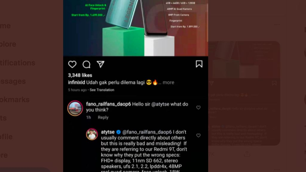 Marah Pada Infinix, Bos Xiaomi Rajin Komentar di Medsos