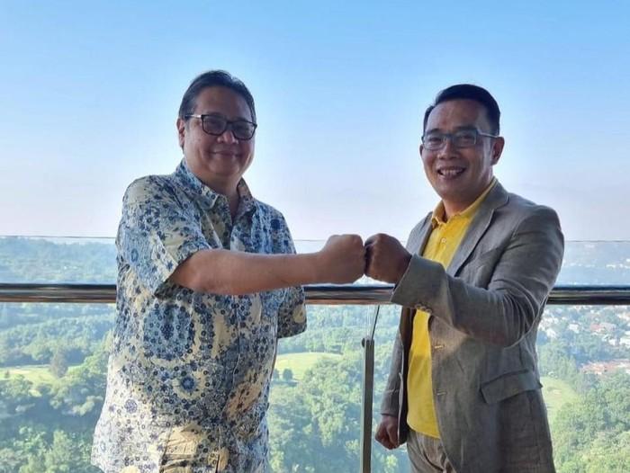 Airlangga dan Ridwan Kamil