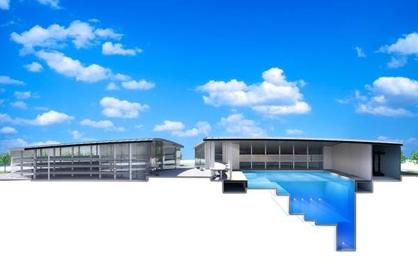 Blue Abyss akan dibangun berundak dengan ukuran 50x40 meter dengan kedalaman 50 meter. (Blue Abyss)