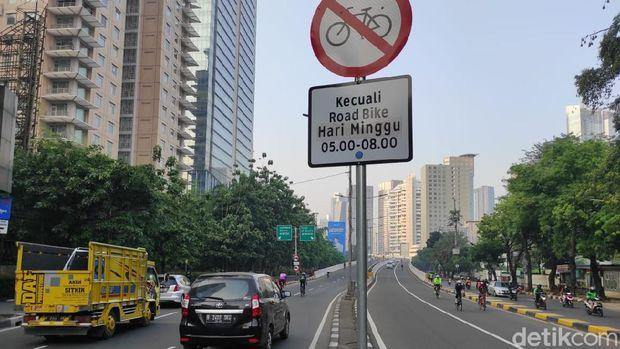 JLNT Kampung Melayu-Tanah Abang untuk road bike. (Azhar BR/detikcom)