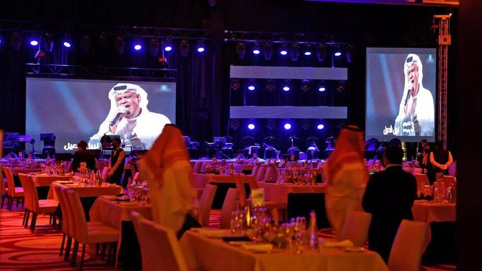 The first concert in the Saudi capital Riyadh has been held since the start of the Covid-19 pandemic Fayez Nureldine AFP