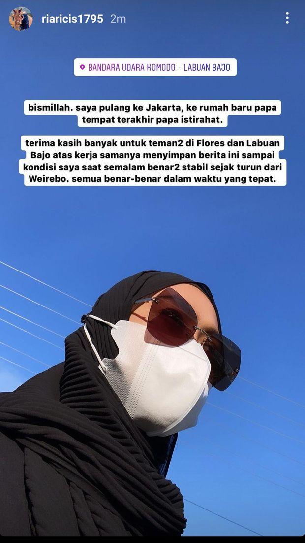 Ria Ricis langsung pulang ke Jakarta setelah tahu ayah meninggal dunia