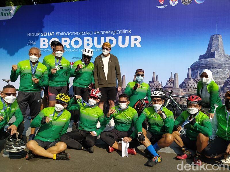 sandiaga uno gowes di Hidup Sehat Series 2021 Borobudur