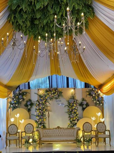 Viral dekorasi pernikahan di gang sempit.