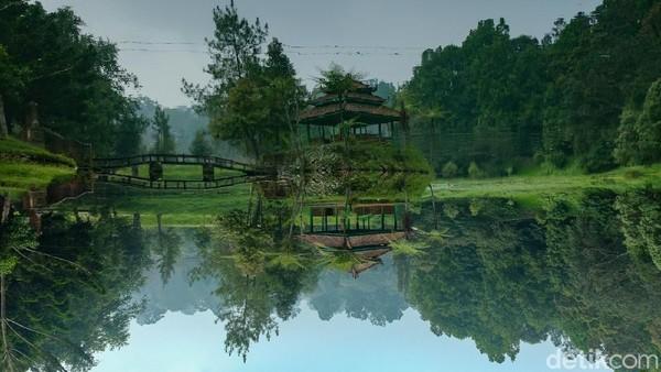 Anda juga disuguhkan pemandangan Danau Mandalawangi.