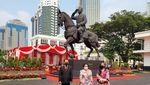Potret Akrabnya Mega-Prabowo Resmikan Patung Bung Karno