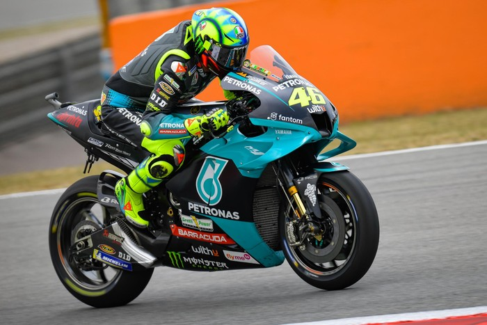 Valentino Rossi di sesi Free Practice MotoGP Catalunya 2021