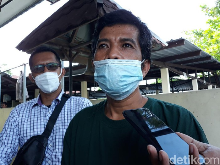 Bandiman, ayah korban takjil sianida Bantul, Senin (7/6/2021).