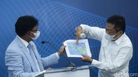 Kementerian Komunikasi dan Informatika beserta Telkom Indonesia menggelar konferensi pers soal gangguan internet di Jayapura pascaputusnya kabel laut.