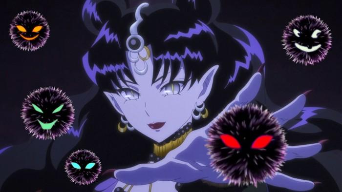 Ratu Nehelenia pemimpin Dead Moon Circus di Sailor Moon.