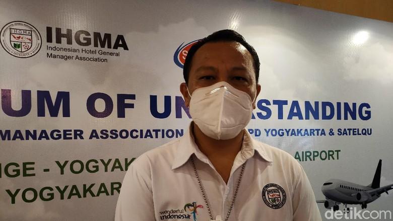 Ketua IHGMA Yogyakarta Haryadi Baiin, saat memberikan keterangan kepada wartawan di Kulon Progo, Senin (7/6/2021)